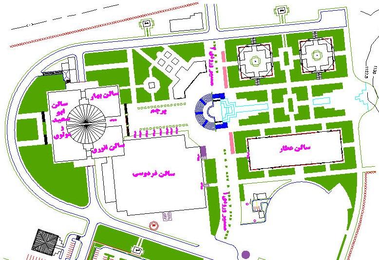 پلان نمایشگاه مشهد