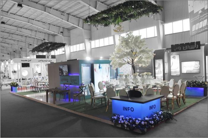 غرفه سازی نمایشگاهی - غرفه آتلیه چکاوک - شرکت طراحی غرفه گراف - ساخت غرفه