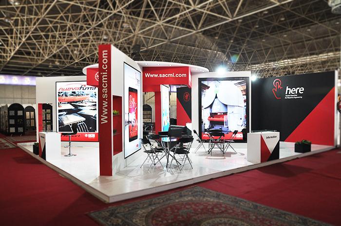 نمایشگاه اصفهان - غرفه سازی - غرفه نمایشگاهی - غرفه های نمایشگاهی - غرفه sacmi - غرفه