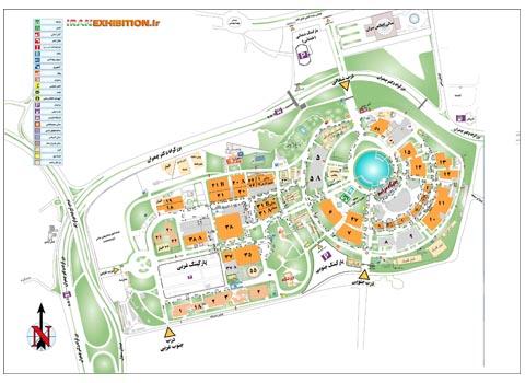 نقشه نمایشگاه بین المللی تهران - نمایشگاه تهران | شرکت غرفه سازی گراف