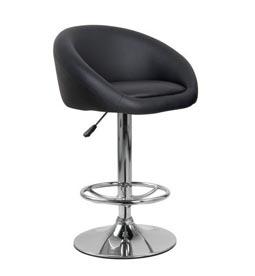 تجهیزات غرفه های نمایشگاهی - صندلی جکدار تمام چرم مشکی - غرفه | شرکت طراحی غرفه گراف