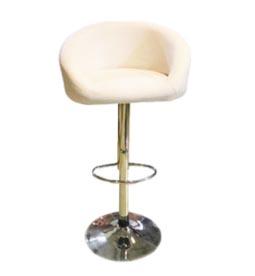 تجهیزات غرفه های نمایشگاهی - صندلی جکدار تمام چرم سفید - غرفه | گراف