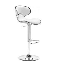 تجهیزات غرفه های نمایشگاهی - صندلی جکدار زین اسبی سفید - غرفه | گراف