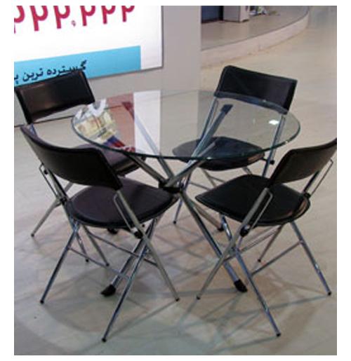 تجهیزات نمایشگاهی - استندهای تبلیغاتی- پارتیشن دوجداره - ست 4 نفره تاشو | شرکت غرفه سازی گراف