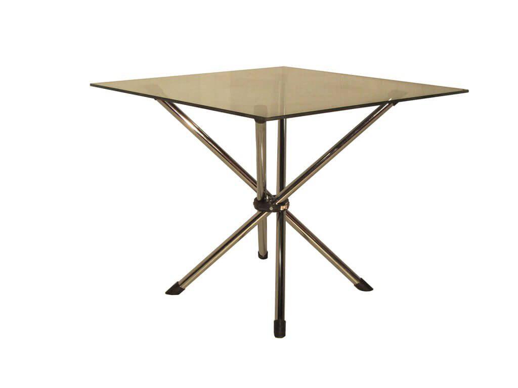 تجهیزات غرفه های نمایشگاهی - میز پایه خرچنگی مربع | شرکت غرفه سازی گراف