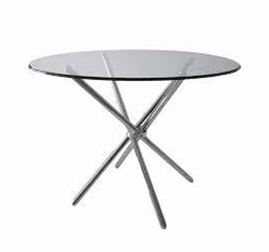 تجهیزات غرفه های نمایشگاهی - میز پایه خرچنگی دایره  | شرکت طراحی و اجرای غرفه شرکت گراف