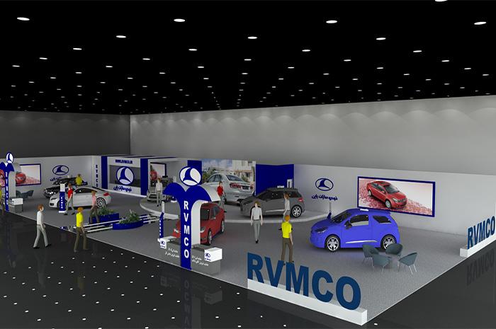 غرفه خودرو سازان راین - نمایشگاه بین المللی مشهد - ساخت غرفه های نمایشگاهی