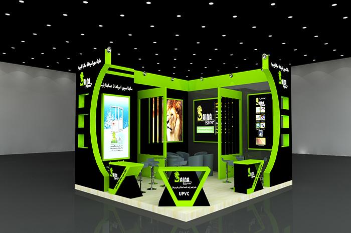 نمایشگاه بین المللی تهران - نمایشگاه در و پنجره و صنایع وابسته - شرکت ساینا پلیمر - غرفه سازی | شرکت طراحی و اجرای غرفه گراف