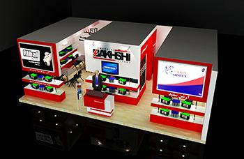 غرفه شرکت برنا باتری - نمایشگاه مازندران (قائم شهر) - نمایشگاه قطعات خودرو