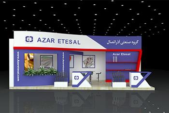 غرفه گروه صنعتی آذر اتصال - نمایشگاه بین المللی ایران پلاستر- غرفه نمایشگاهی