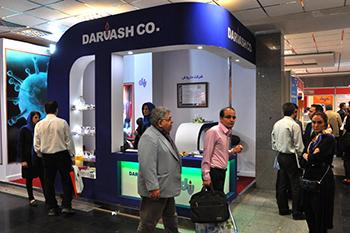 غرفه شرکت دارواش - نمایشگاه بین المللی تهران - طراحی غرفه