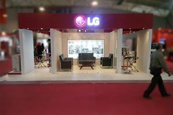 غرفه شرکت LG - نمایشگاه بین المللی شیراز - غرفه نمایشگاهی