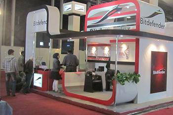 غرفه شرکت bitdefender - نمایشگاه بین المللی مشهد - غرفه سازی نمایشگاهی