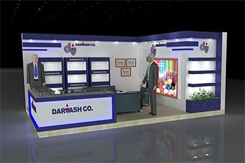 غرفه شرکت دارواش - نمایشگاه بین المللی تهران - غرفه سازی نمایشگاهی