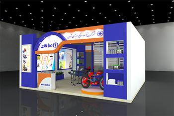 غرفه صباباتری - نمایشگاه بین المللی تهران - طراحی غرفه